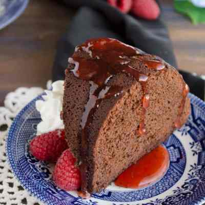 Chocolate Raspberry Bundt Cake