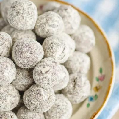 Chocolate Mint Energy Bites