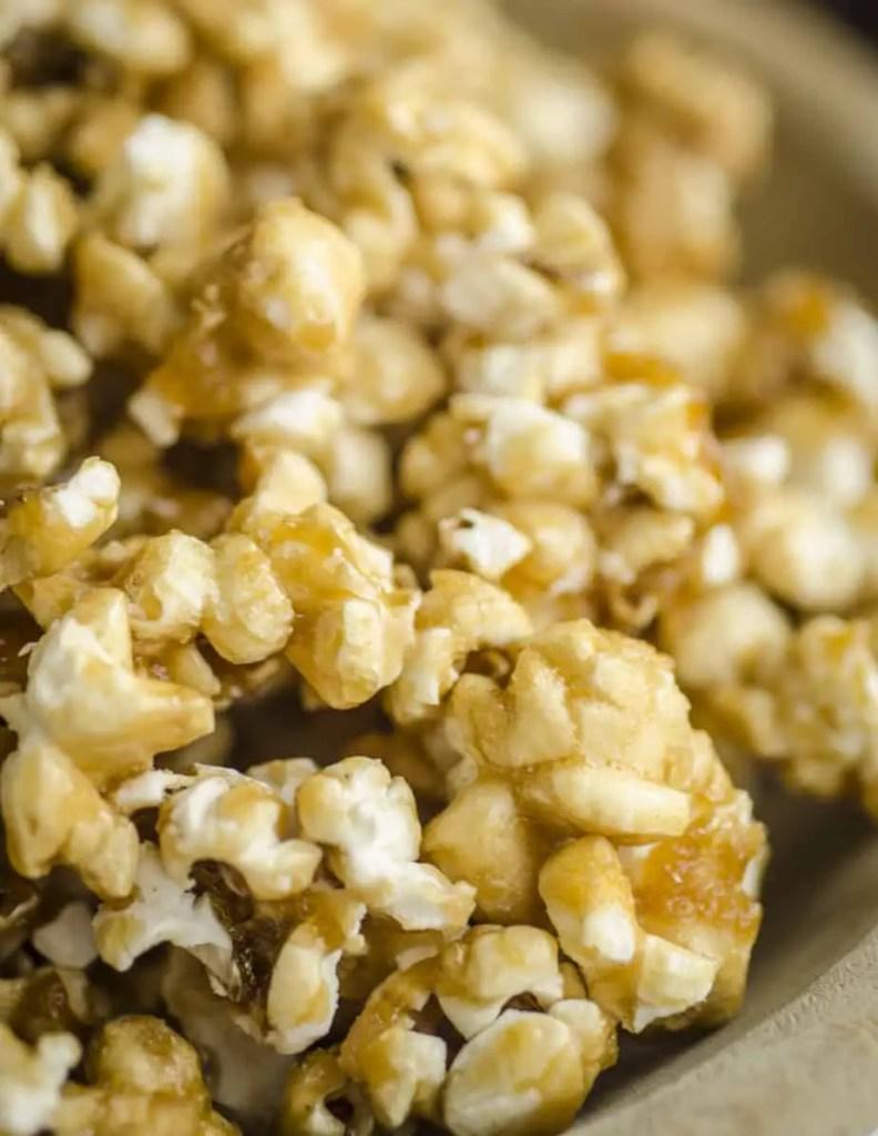 Closeup of Caramel Popcorn