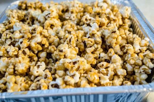 Freshly made Microwave Caramel Popcorn - The Goldilocks Kitchen