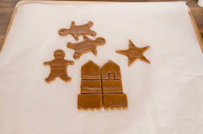 Easy Gingerbread Cookies dough cut-outs are ready to be baked- The Goldilocks Kitchen