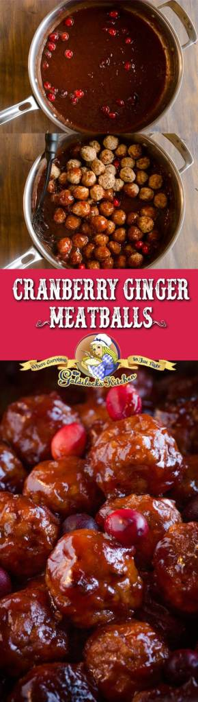 30 minute Cranberry Ginger Meatballs are delicious and easy thanks to pre-cooked store-bought meatballs and canned cranberry sauce. Cranberry Ginger Meatballs are great at potlucks (serve with toothpicks) or on a plate as the main course for a quick weeknight dinner.