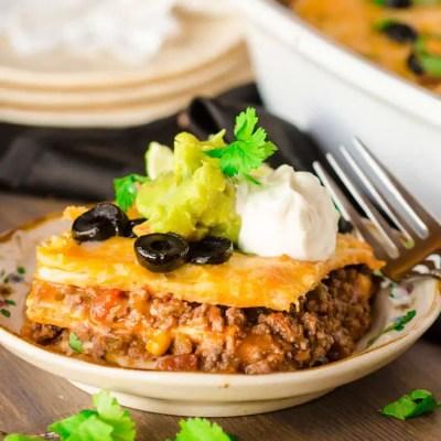 30 Minute Mexican Lasagna