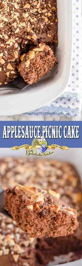 This light, sweet, and delicious Applesauce Picnic Cake is perfect for any sunny getaway, super easy to make, and also goes great with your favorite hot beverage.