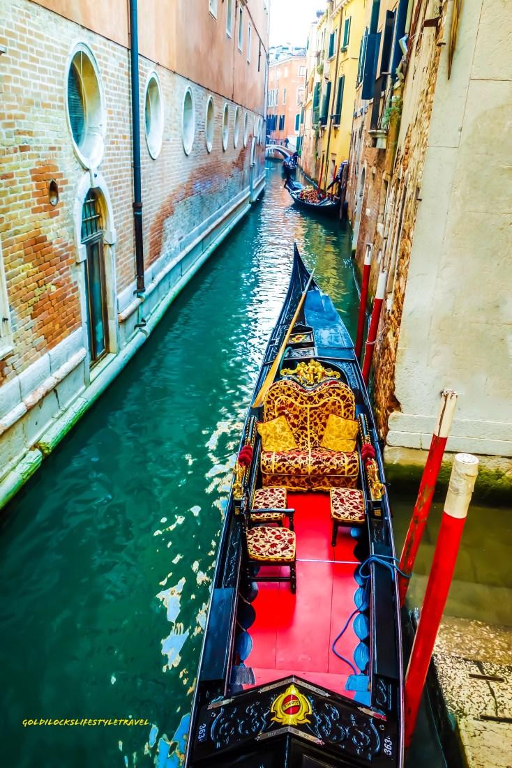 Very beautifully decorated Venice Gondola