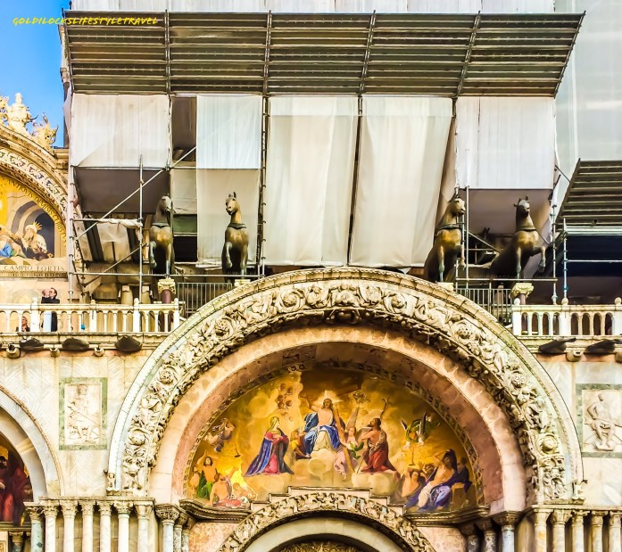 The four horses on the rooftop of St Mark's Basilica