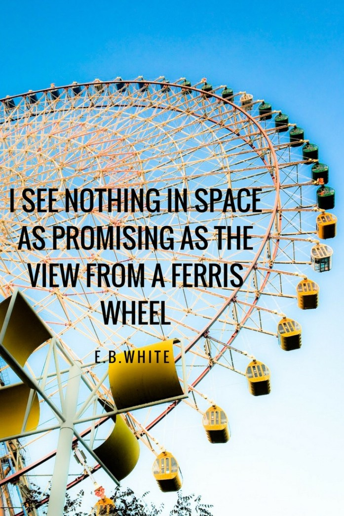 Quote: I see nothing in space as promising as the view from a Ferris Wheel