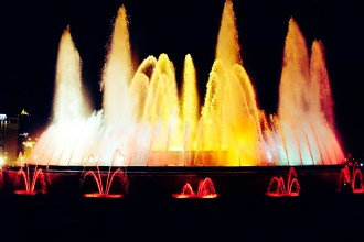 Bercelona Montjuic Magic Fountain Spain