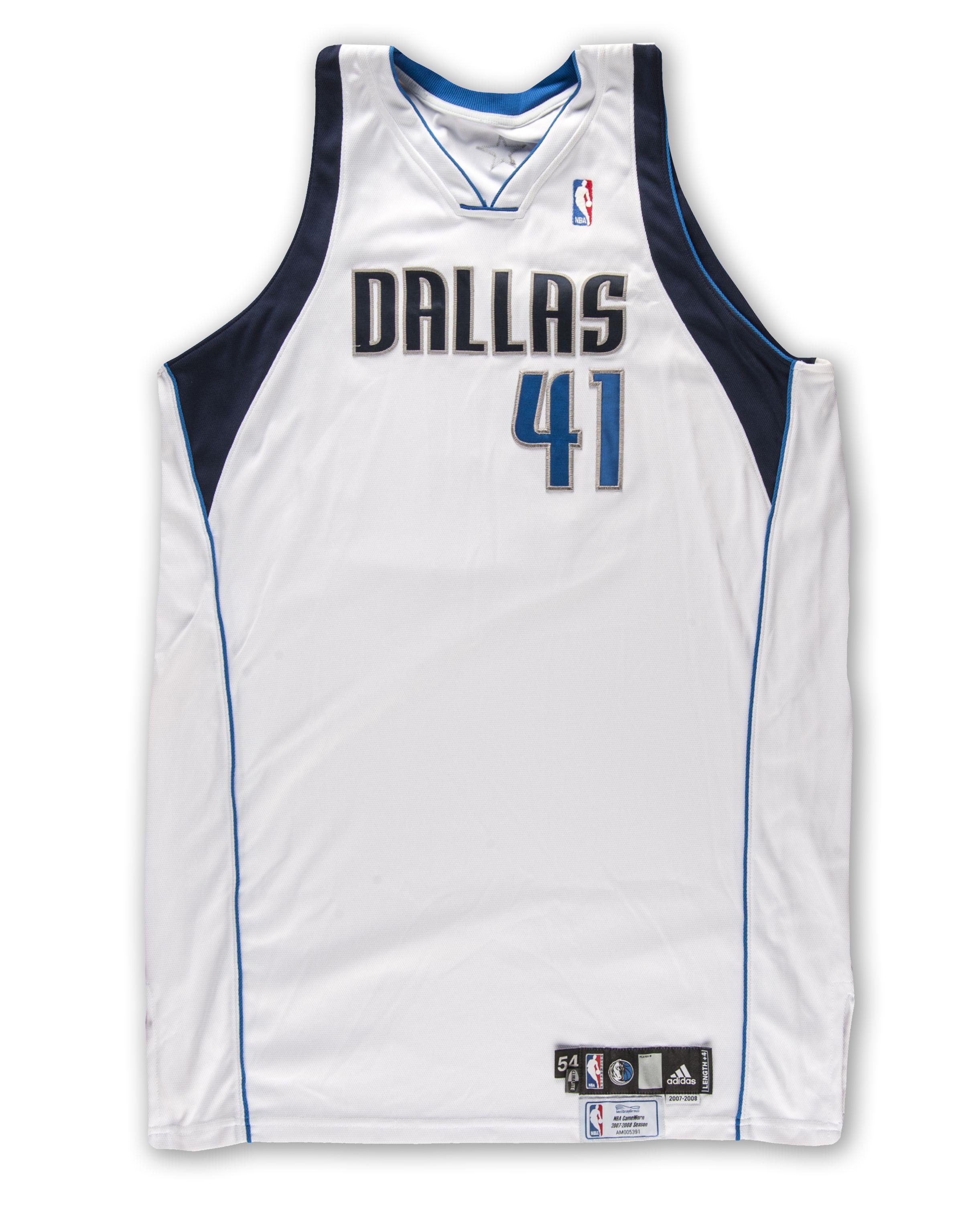 Lot Detail 2007 08 Dirk Nowitzki Dallas Mavericks Game