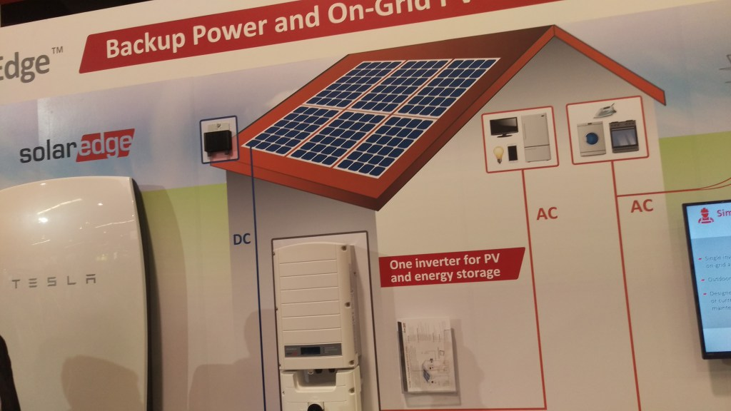 This model shows how the Tesla Powerwall will smoothly integrate with SolarEdge system