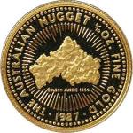 Until 1989, images of gold ore appeared on Australian Gold Nugget coins