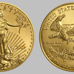 Front and Reverse view of American Gold Eagle coins
