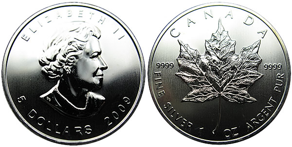 Image result for Canadian Maple Leaf Silver Coin