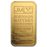 "The ""obverse"" of the 1 oz. Johnson Matthey Gold Bar"
