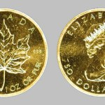 The original Gold Maple Leaf coin featured a younger Queen Elizabeth II on the front