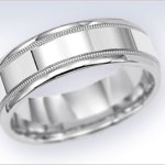 Wedding band made of palladium