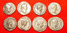 pictures of the silver Denarius - once the most powerful currency in the world