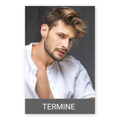 FriseurTerminkarte für Männer MÄNNERSTYLING