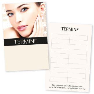 Terminkarte für Kosmetikstudio BEAUTY GOLD mit 10 Terminen