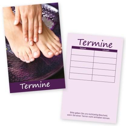 Maniküre und Pediküre Terminkarte HAND & FUSS