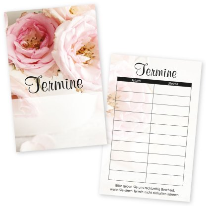 Terminkarten VINTAGE mit 10 Terminen für Beauty, Mode, Geschenke