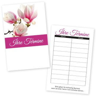 Beauty-Terminkarte PINK mit 10 Terminen
