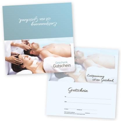 Wellness Gutschein Paar bei der Massage