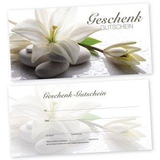 Geschenk Gutschein WEIßE ORCHIDEE (Gutscheinkarte)