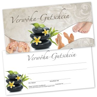 Gutscheinkarte für Fußpflege RELAXING FEET(Gutscheinkarte)