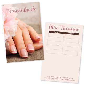 Nagelpflege Terminkarte NATURAL NAILS