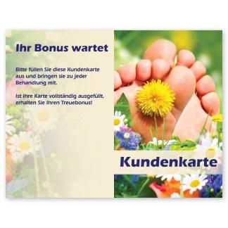 Fußpflege Kundenkarten