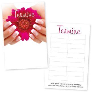 Handpflege Terminkarte FRENCH NAILS mit 10 Terminen