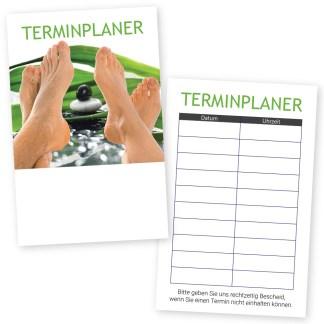 Podologie-Terminkarte FUSS RELAX mit 10 Terminen