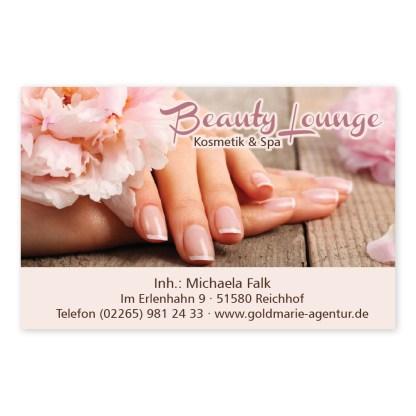 Nagelpflege-Visitenkarte NATURAL NAILS (Querformat)