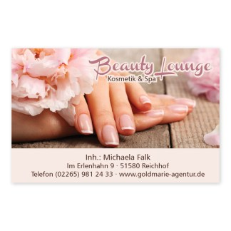 Nagelpflege-Visitenkarte NATURAL NAILS (Querformat)