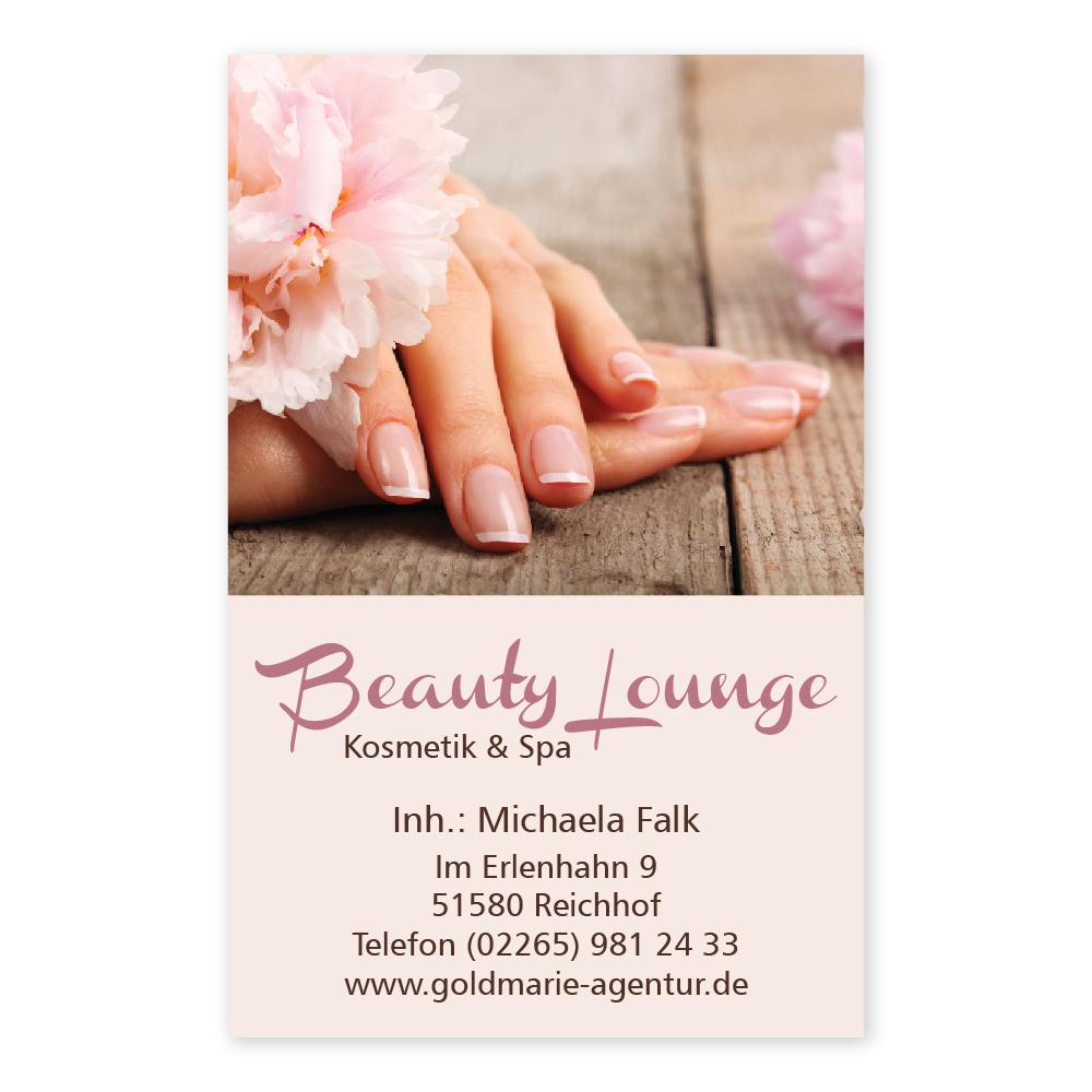 Nagelpflege Visitenkarte Natural Nails Hochformat
