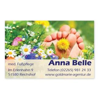 Fußpflege-Visitenkarte SOMMERWIESE (Querformat)