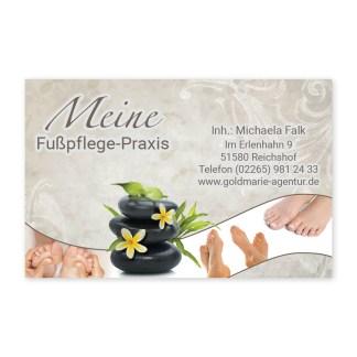 Visitenkarte Fußpflege RELAXING FEET (Querformat)