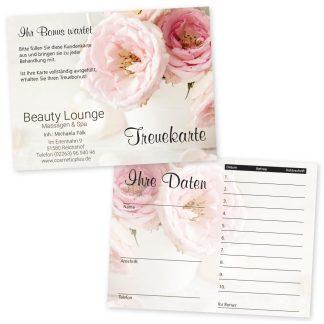 Kundenkarte VINTAGE (Hochformat) für Mode, Beauty, Geschenke uvm.