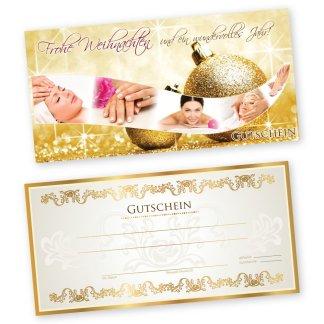 Weihnachtsgutschein XMAS GOLD 1 Kosmetik