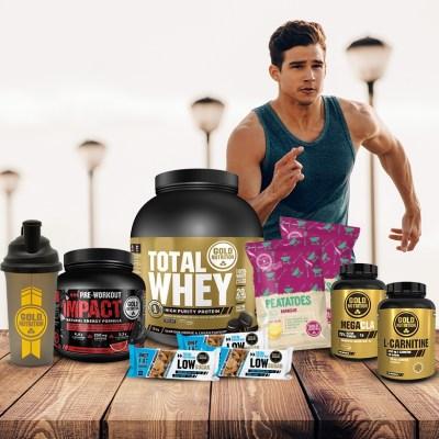 Pack Fitness Premium para Homem GoldNutrition