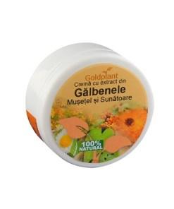Crema cu Galbenele, musetel si ulei de sunatoare