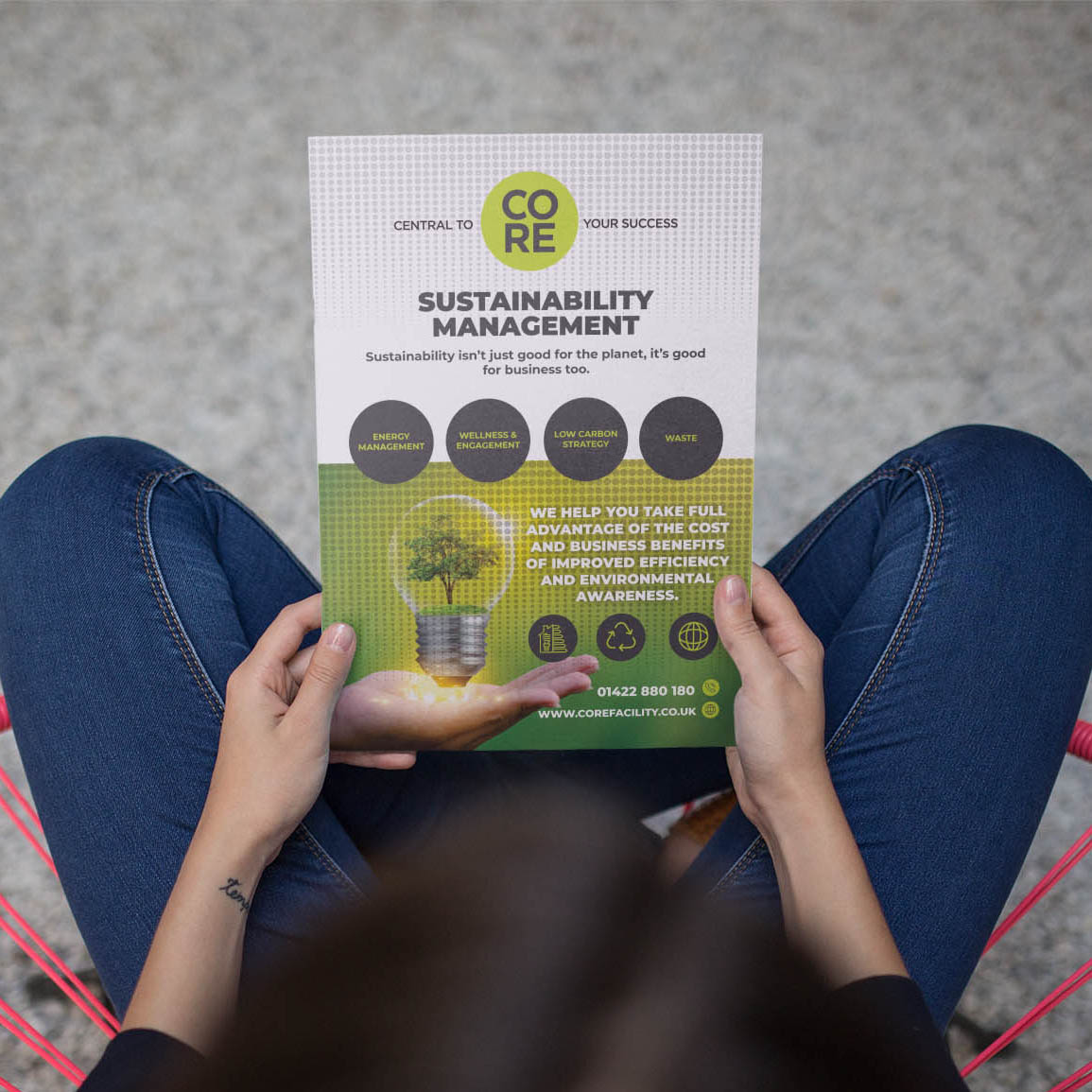 Double Sided Flyer Design for Sustainability