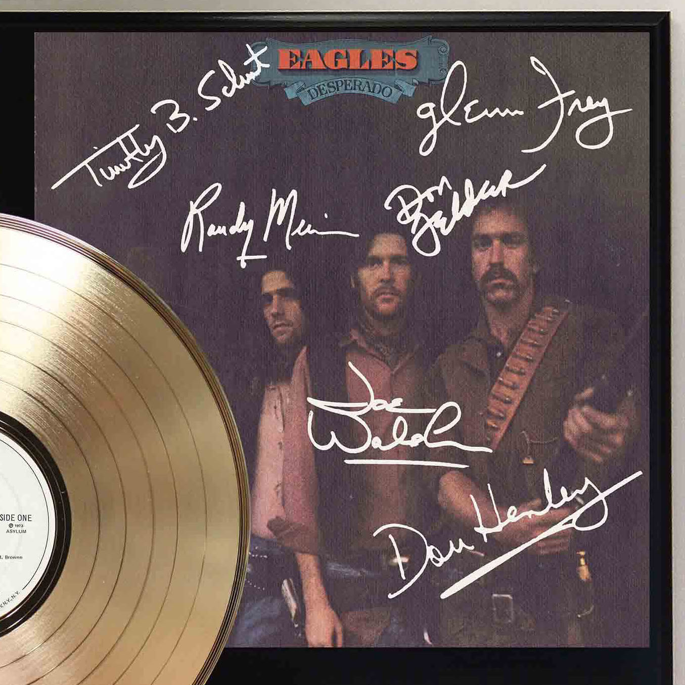 Eagles Desperado Gold Lp Record Signature Display C3 Gold Record Outlet Album And Disc Collectible Memorabilia