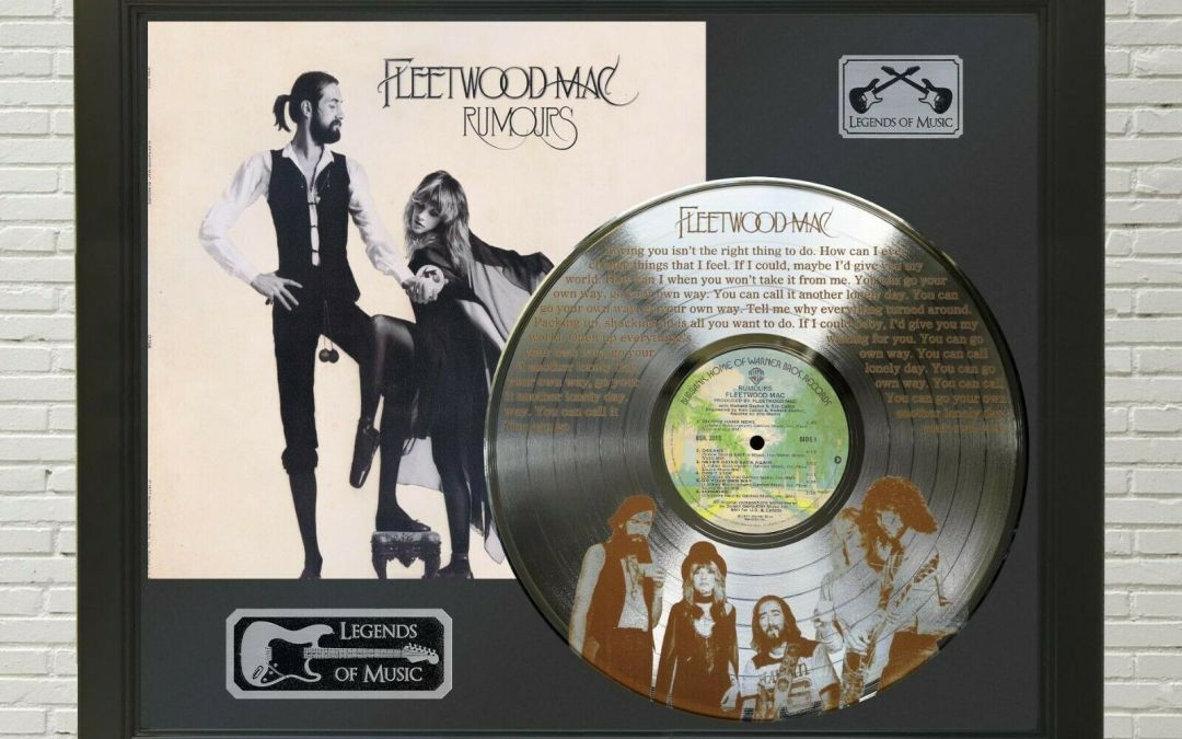 Fleetwood Mac – Go Your Own Way Framed Legends Of Music Etched Platinum LP Record Display