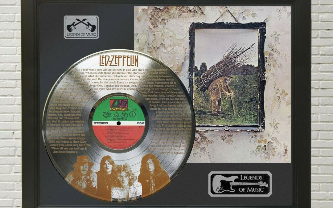 Led Zeppelin – Stairway To Heaven Framed Legends Of Music Platinum LP Record Display