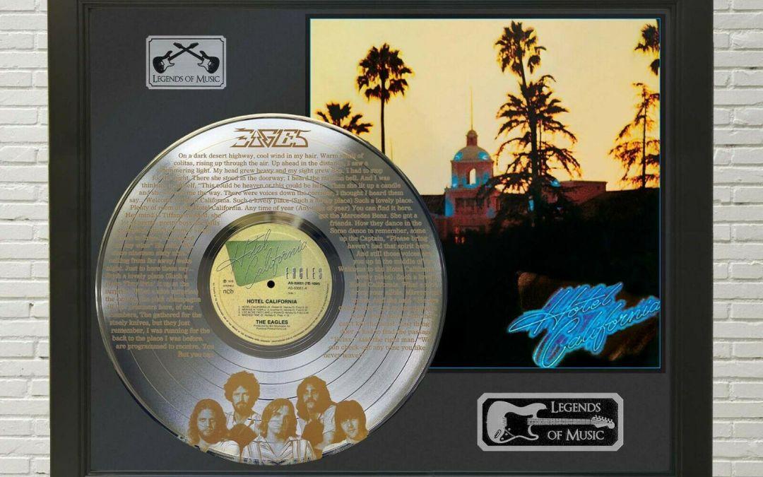 Eagles – Hotel California Framed Legends Of Music Platinum LP Record Display