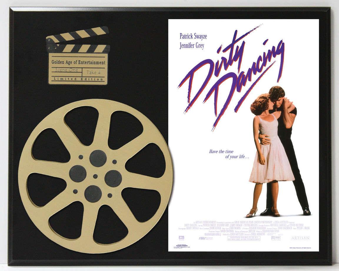 dirty dancing patrick swayze movie poster limited edition movie reel display