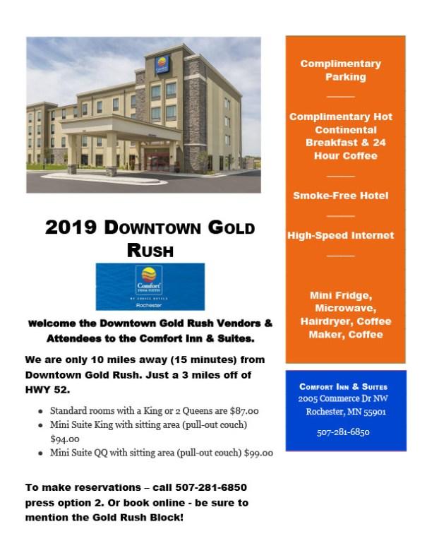 Comfort Inn room block flyer