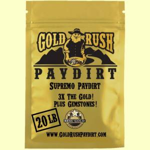 SUPREMO PAYDIRT!  3X the Gold + Gems such as rubies and sapphires.  20 lbs, free ship!